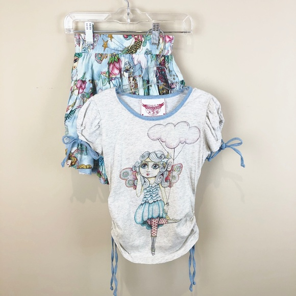 Paper Wings Other - Paper Wings Organic Fairy Flight Top Skirt Outfit